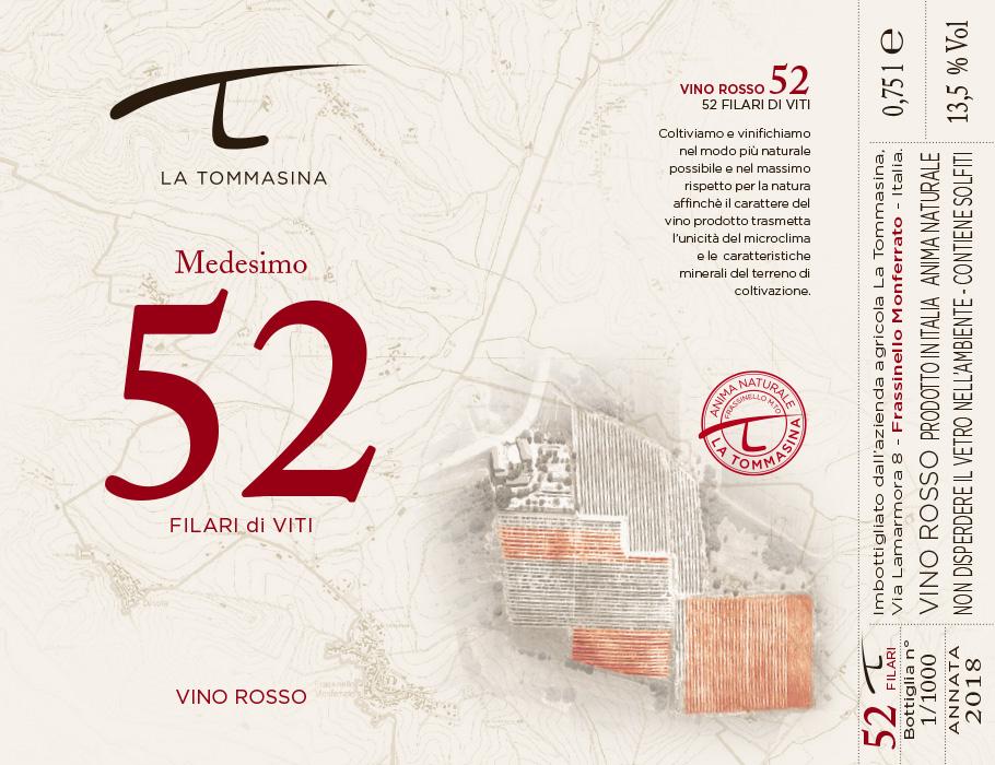 etichetta Medesimo Vino Naturale La Tommasina