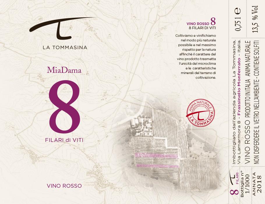 etichetta MiaDama Vino Naturale La Tommasina